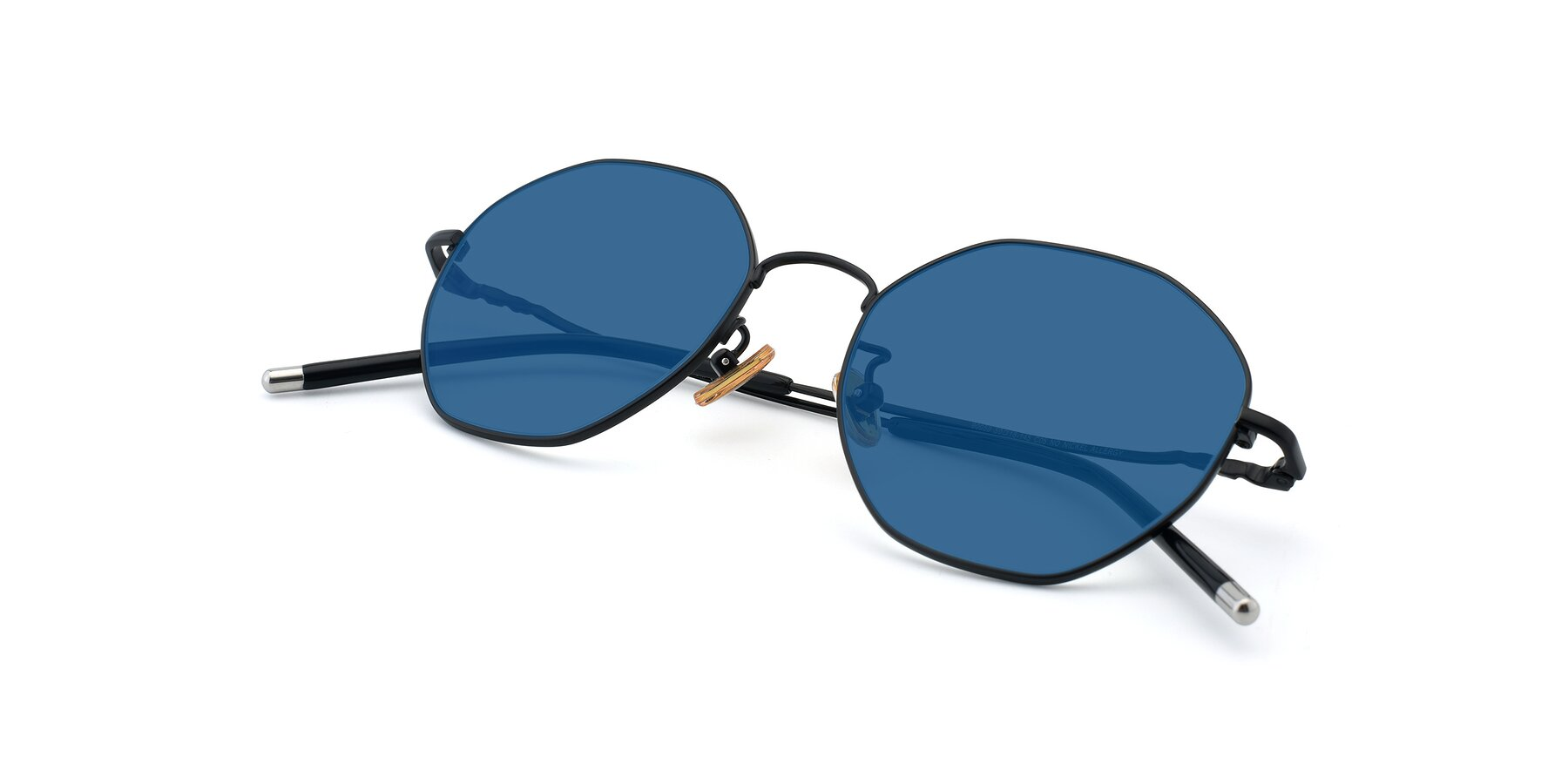 View of 90059 in Black with Blue Tinted Lenses
