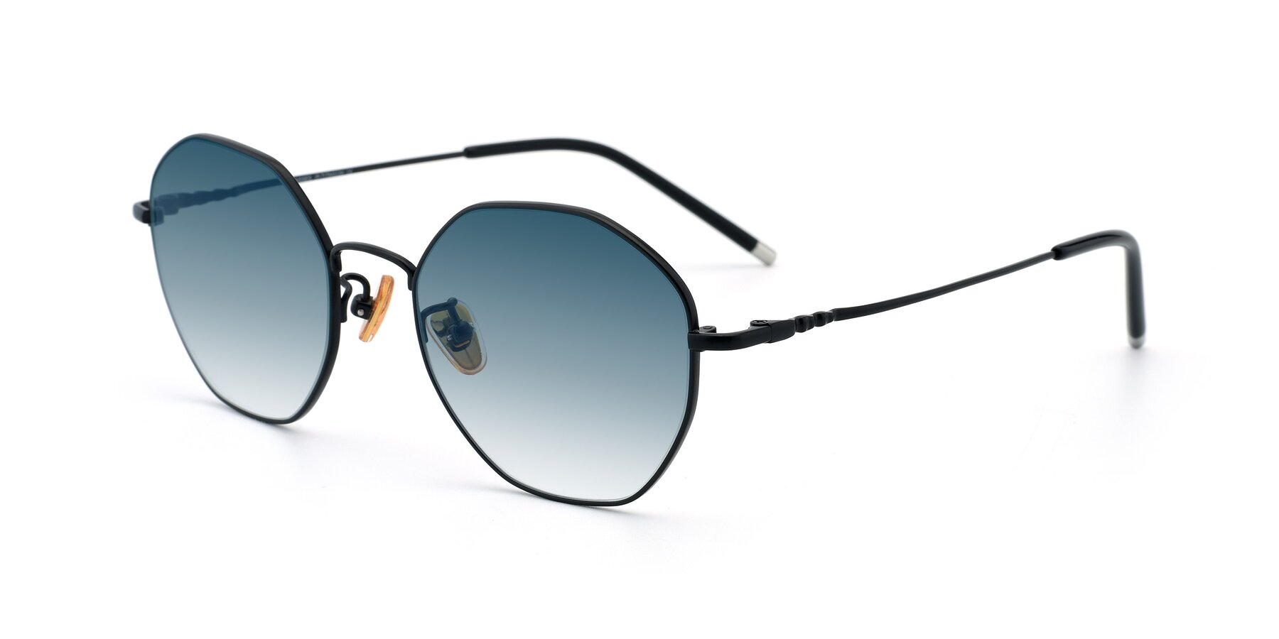 Angle of 90059 in Black with Blue Gradient Lenses