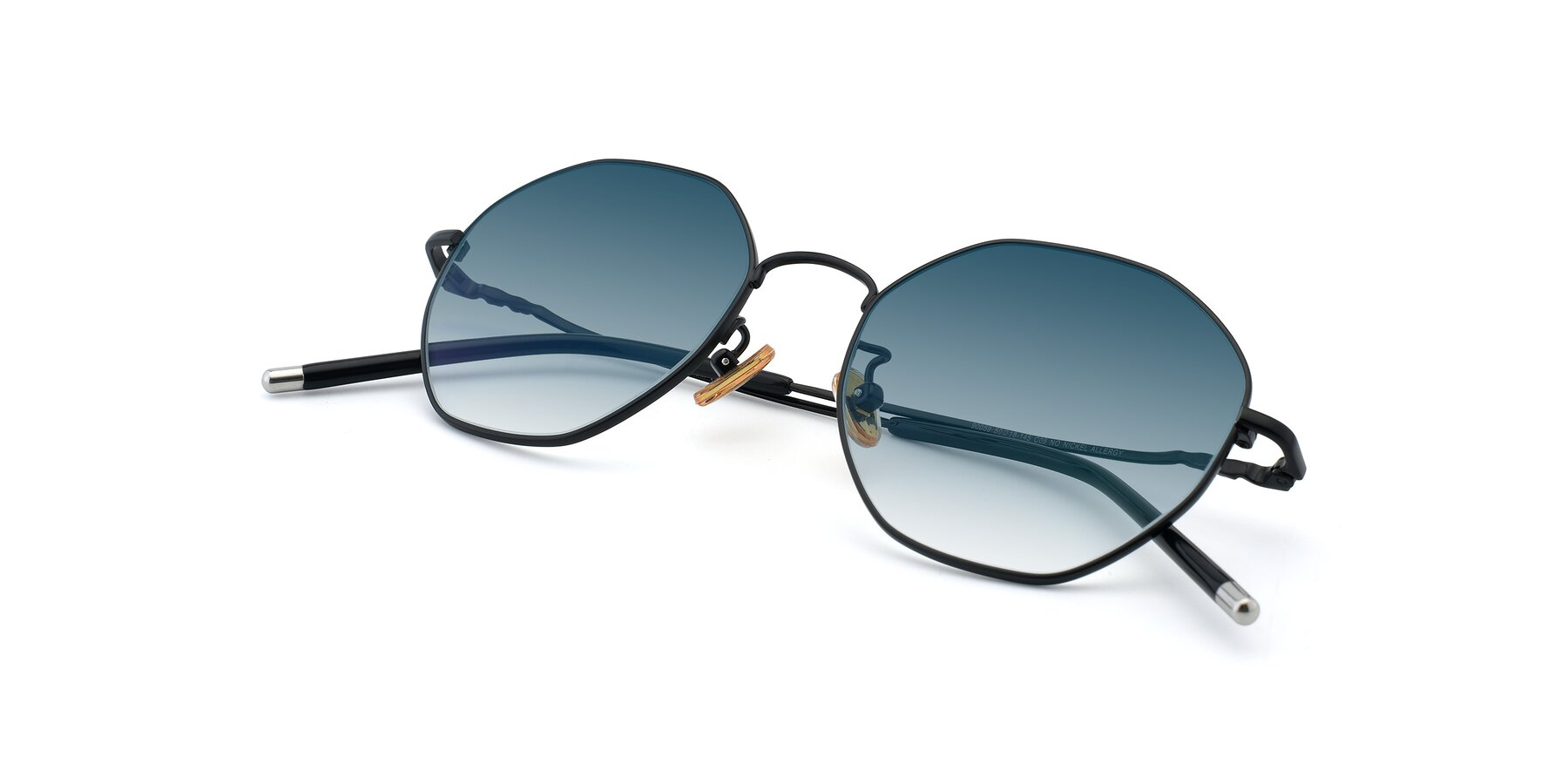 View of 90059 in Black with Blue Gradient Lenses