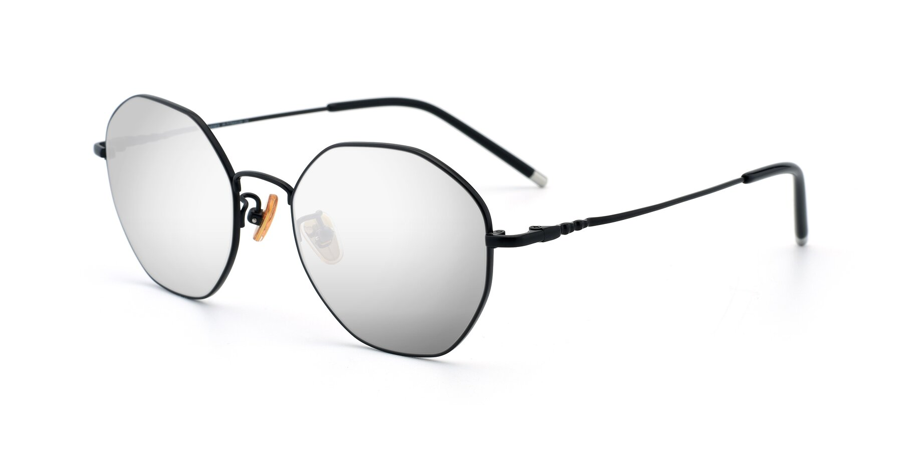 Angle of 90059 in Black with Silver Mirrored Lenses