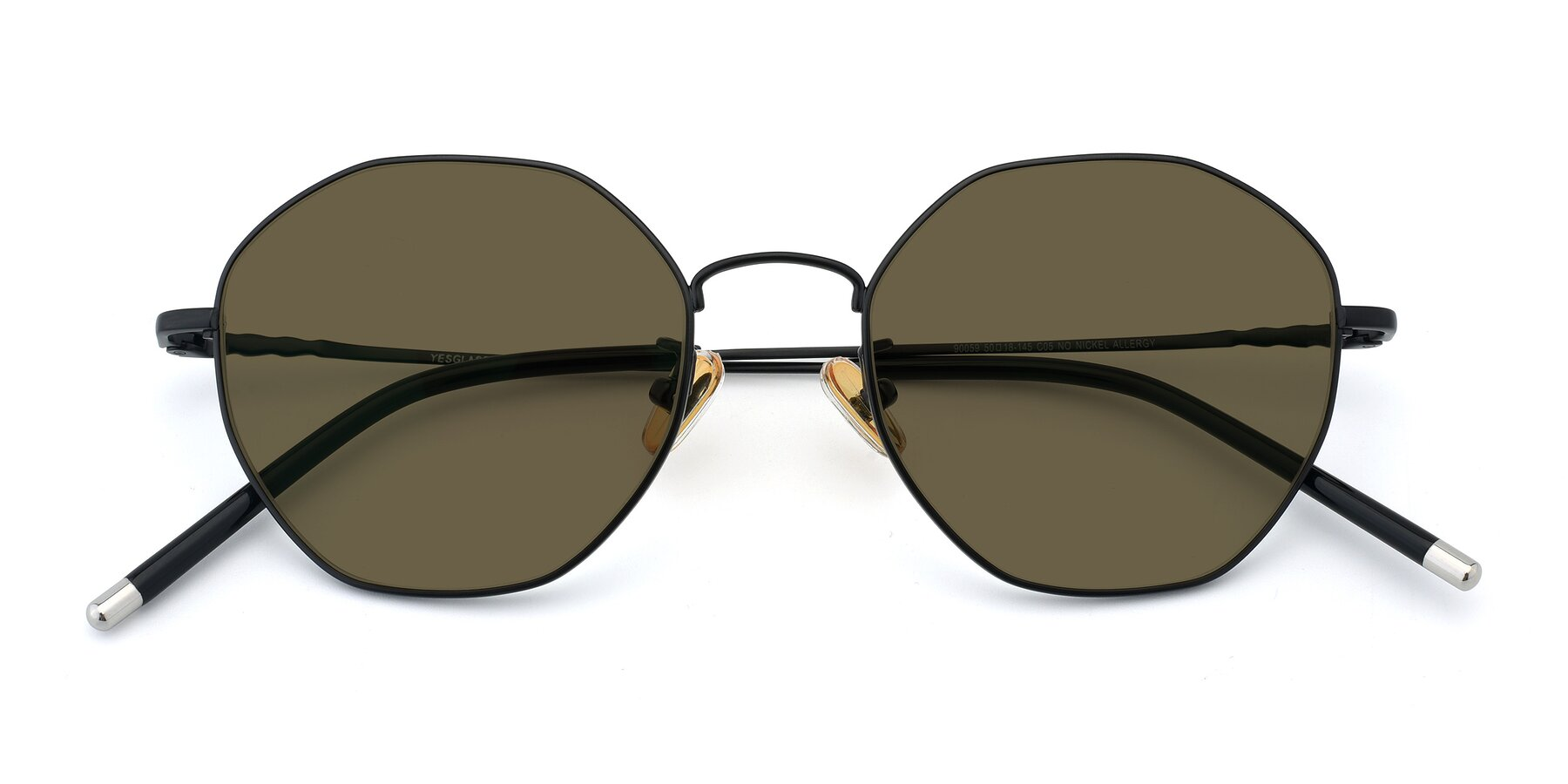 Folded Front of 90059 in Black with Brown Polarized Lenses