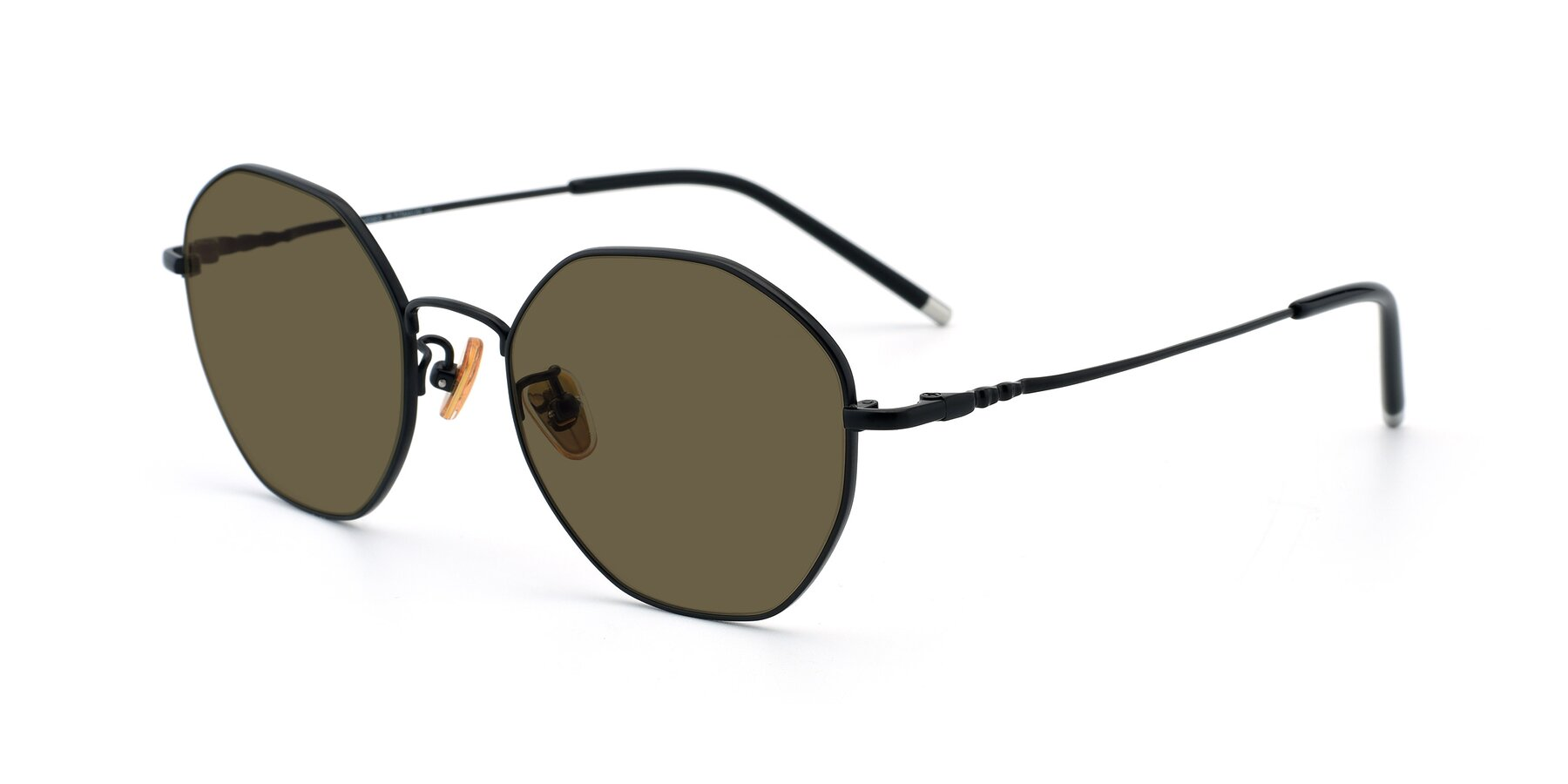 Angle of 90059 in Black with Brown Polarized Lenses