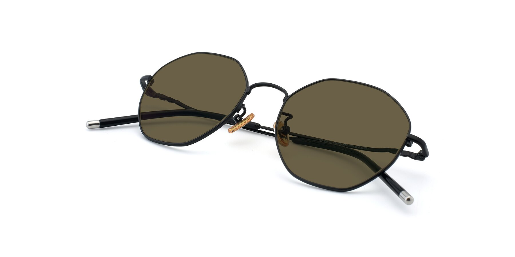 View of 90059 in Black with Brown Polarized Lenses