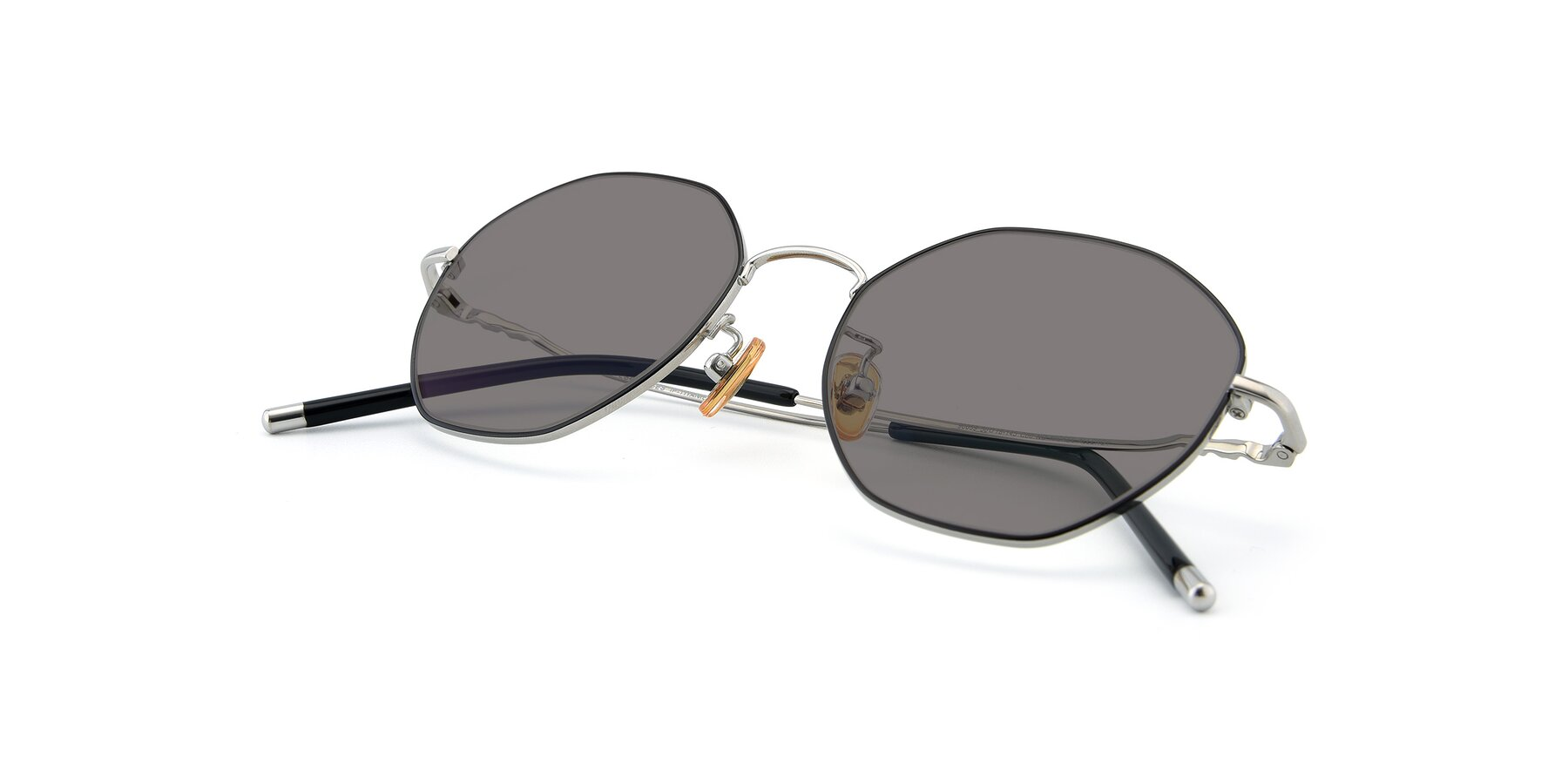 View of 90059 in Black-Silver with Medium Gray Tinted Lenses