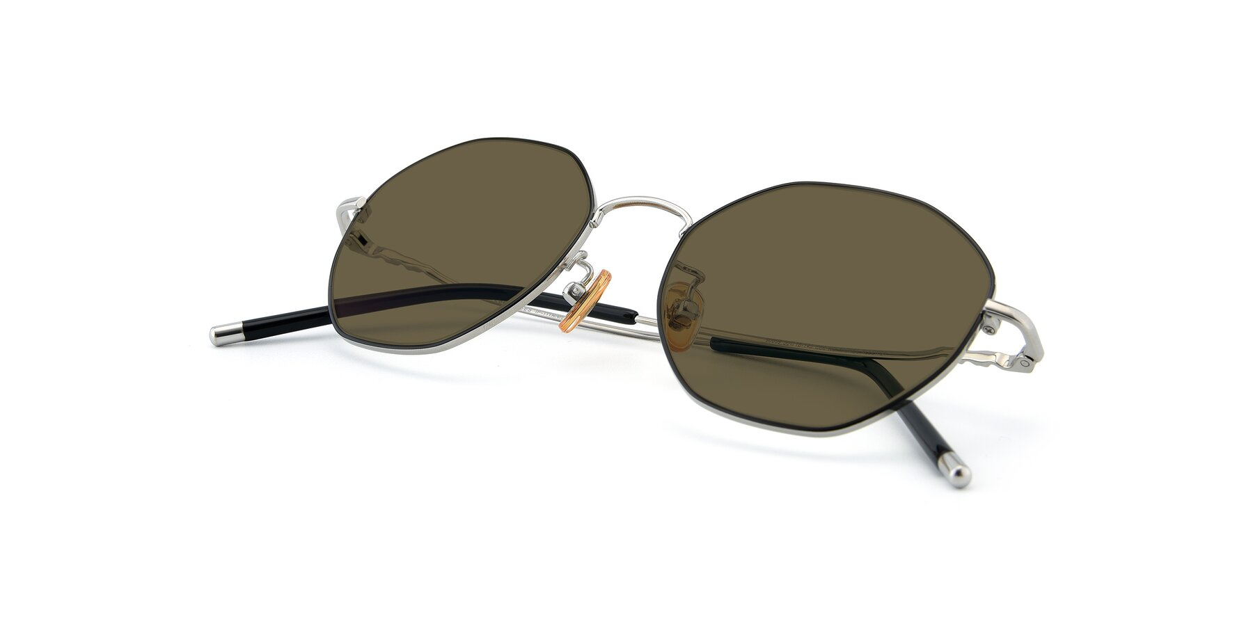 View of 90059 in Black-Silver with Brown Polarized Lenses