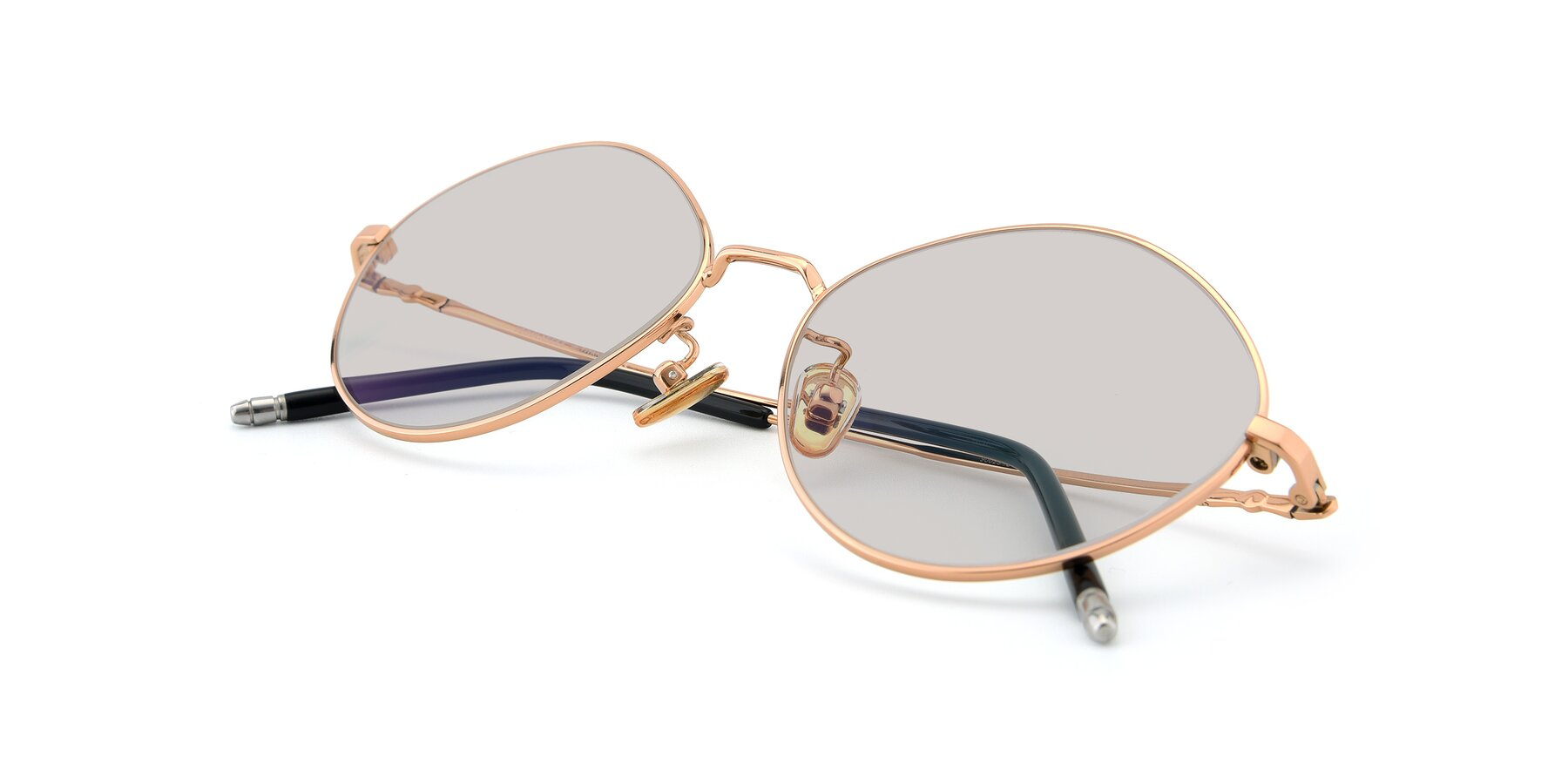 View of 90029 in Gold with Light Brown Tinted Lenses