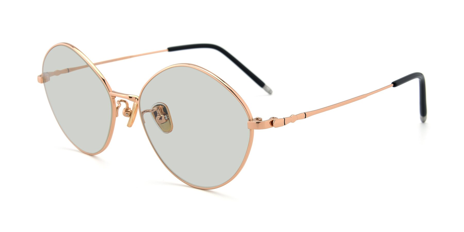 Angle of 90029 in Gold with Light Green Tinted Lenses