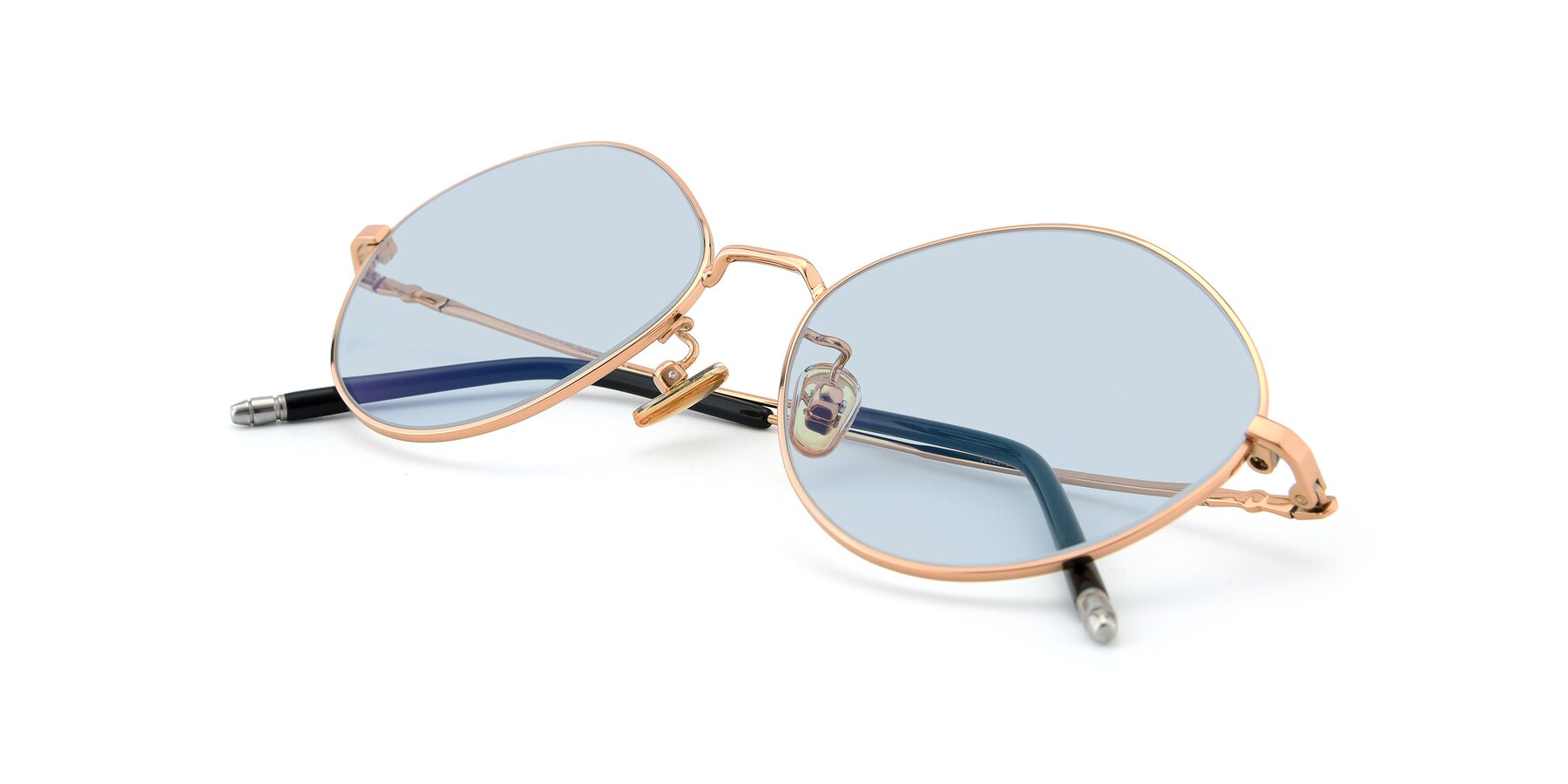 View of 90029 in Gold with Light Blue Tinted Lenses