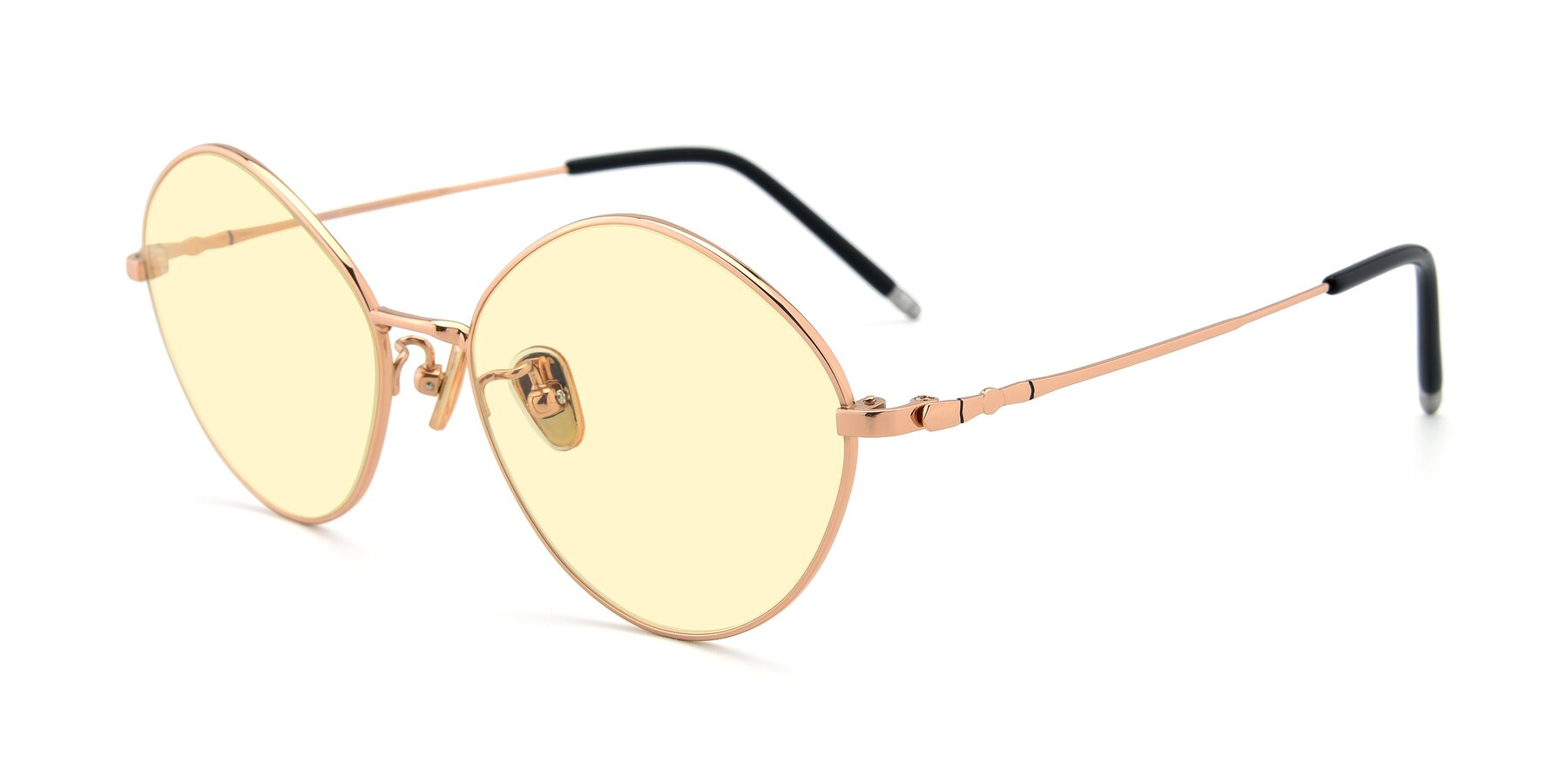 Angle of 90029 in Gold with Light Yellow Tinted Lenses
