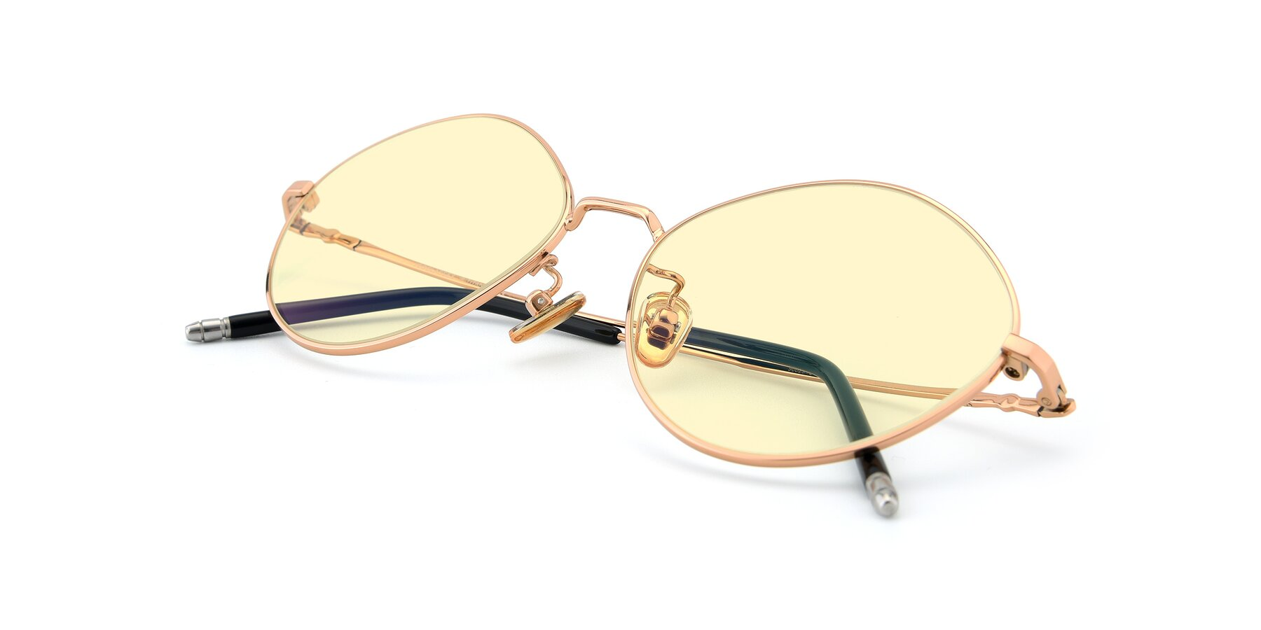 View of 90029 in Gold with Light Yellow Tinted Lenses