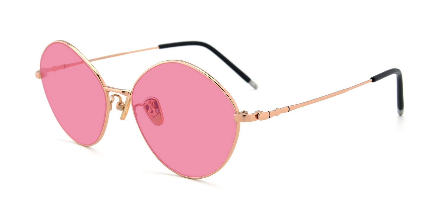 Angle of 90029 in Gold with Pink Tinted Lenses