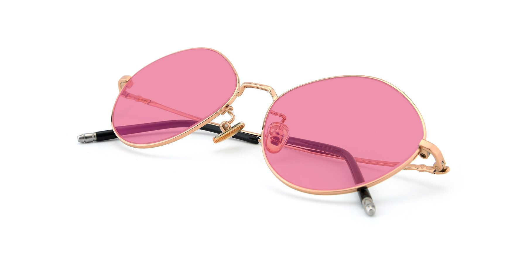 View of 90029 in Gold with Pink Tinted Lenses
