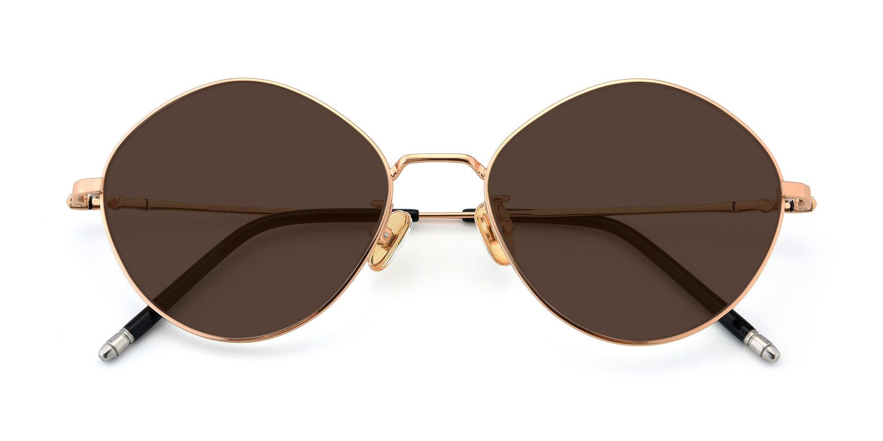 Folded Front of 90029 in Gold with Brown Tinted Lenses