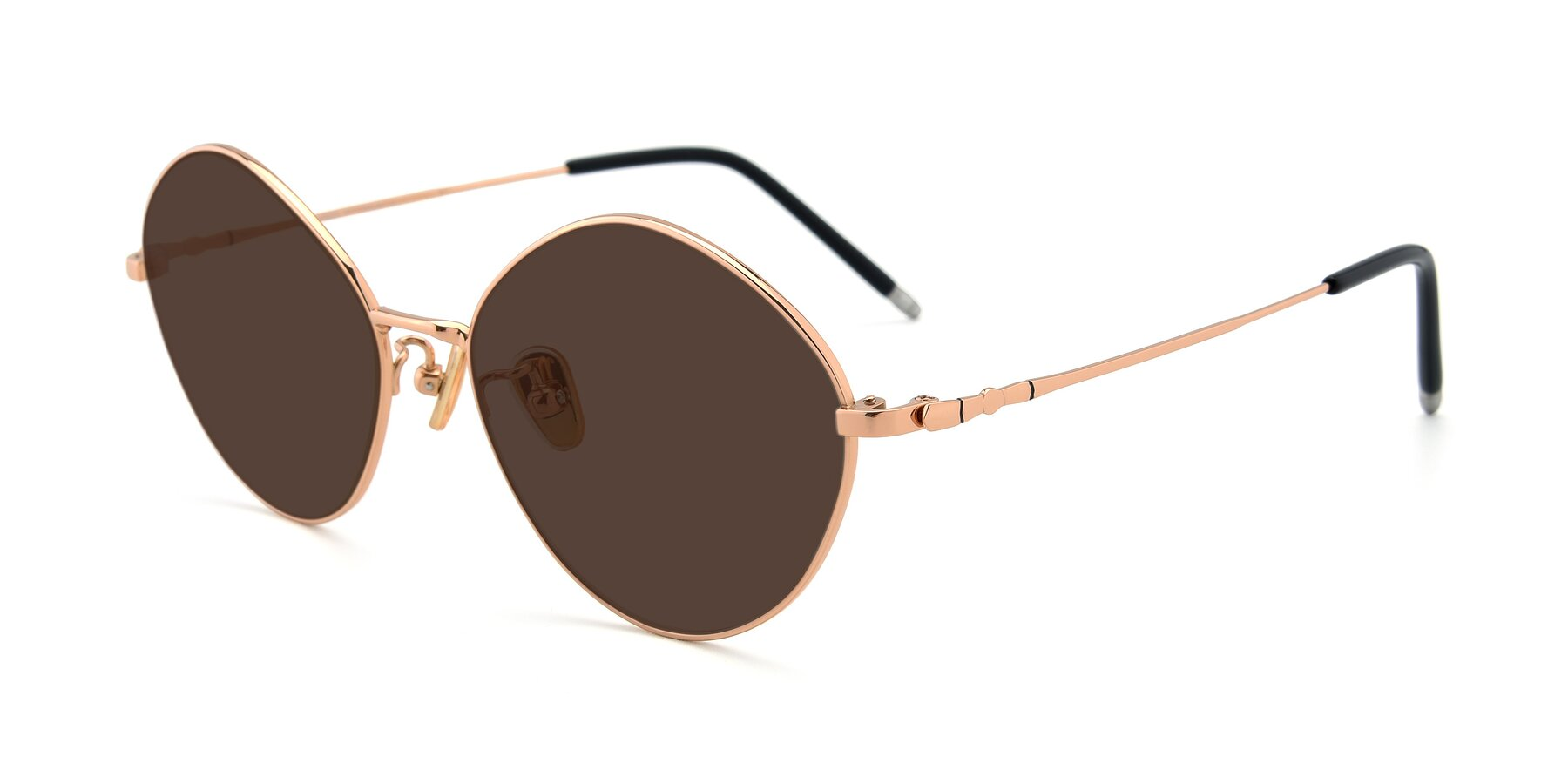 Angle of 90029 in Gold with Brown Tinted Lenses