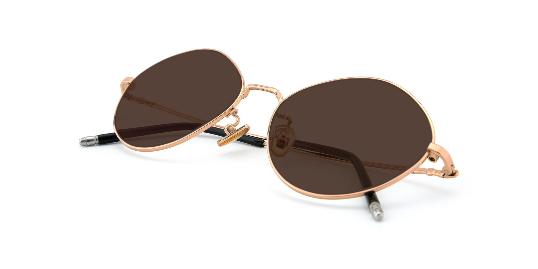 View of 90029 in Gold with Brown Tinted Lenses