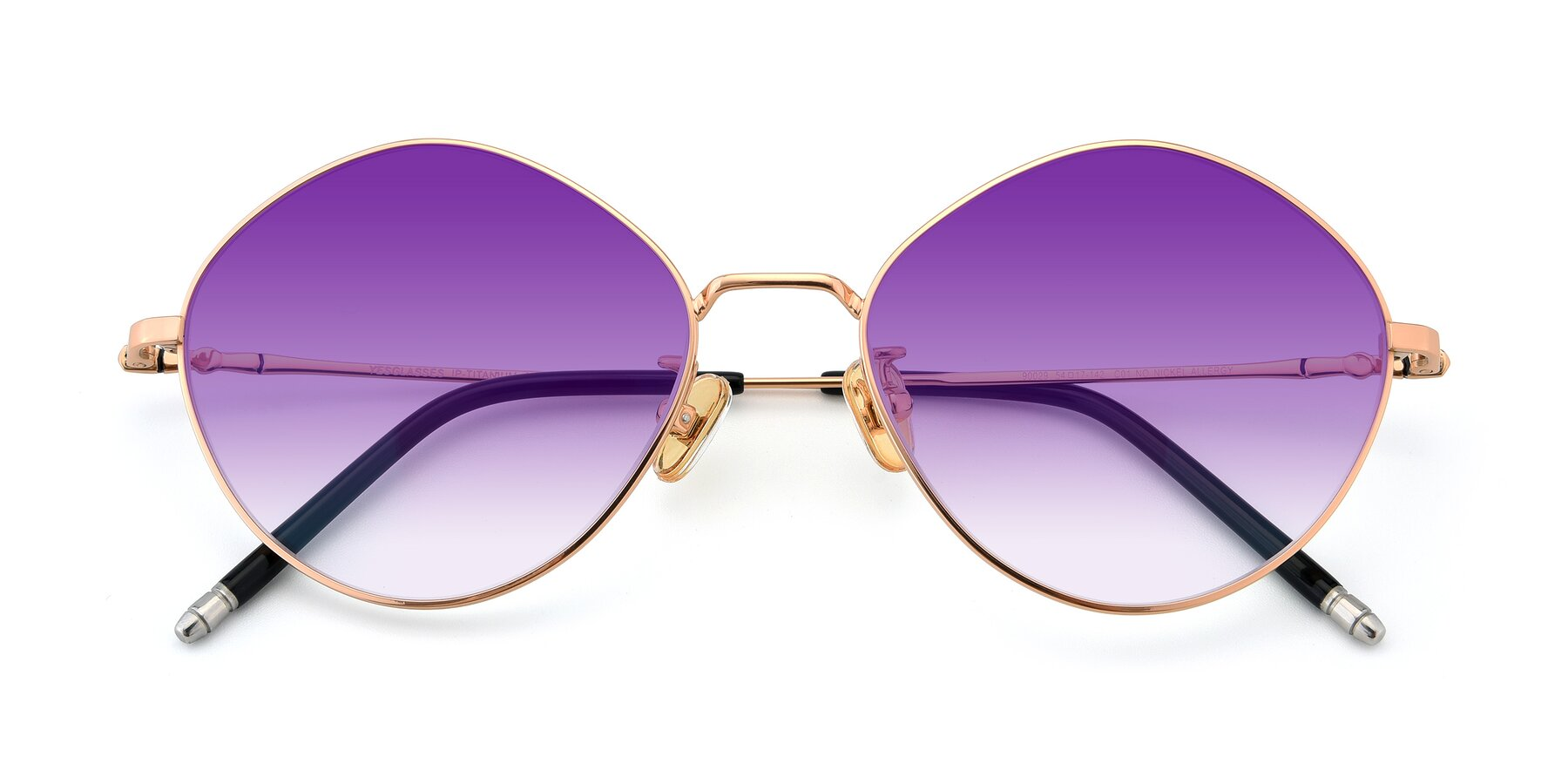 Folded Front of 90029 in Gold with Purple Gradient Lenses