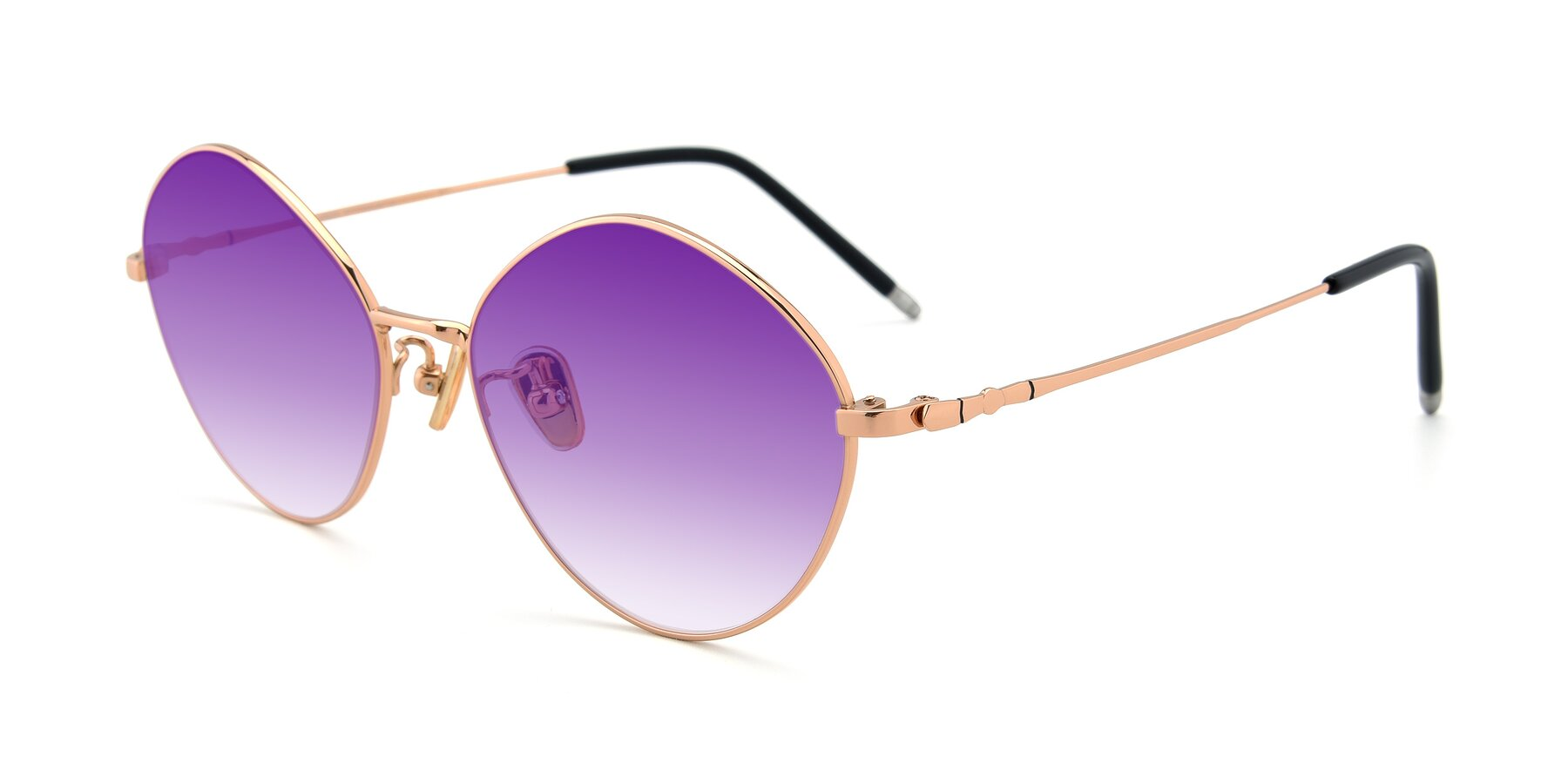 Angle of 90029 in Gold with Purple Gradient Lenses