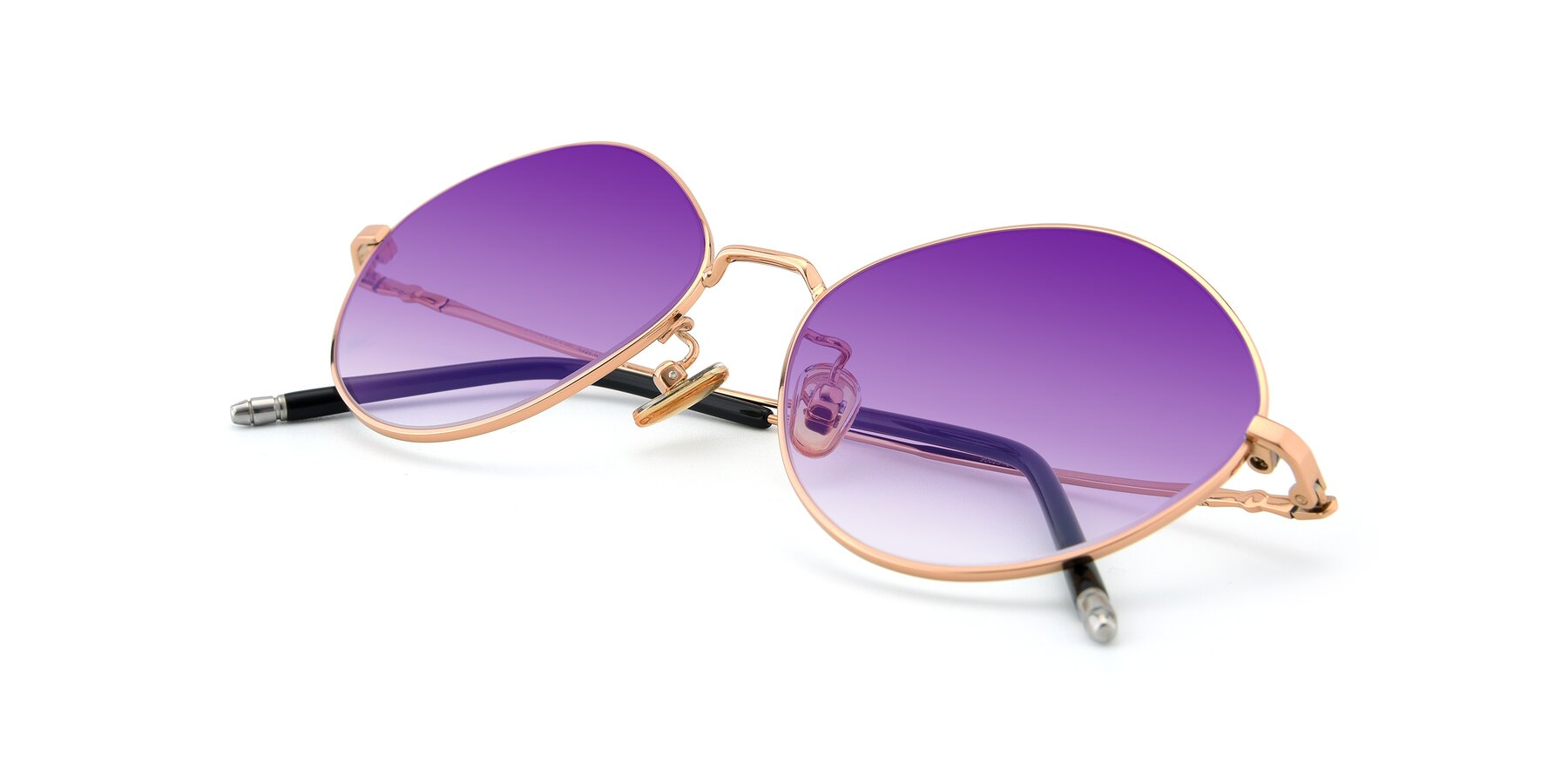 View of 90029 in Gold with Purple Gradient Lenses