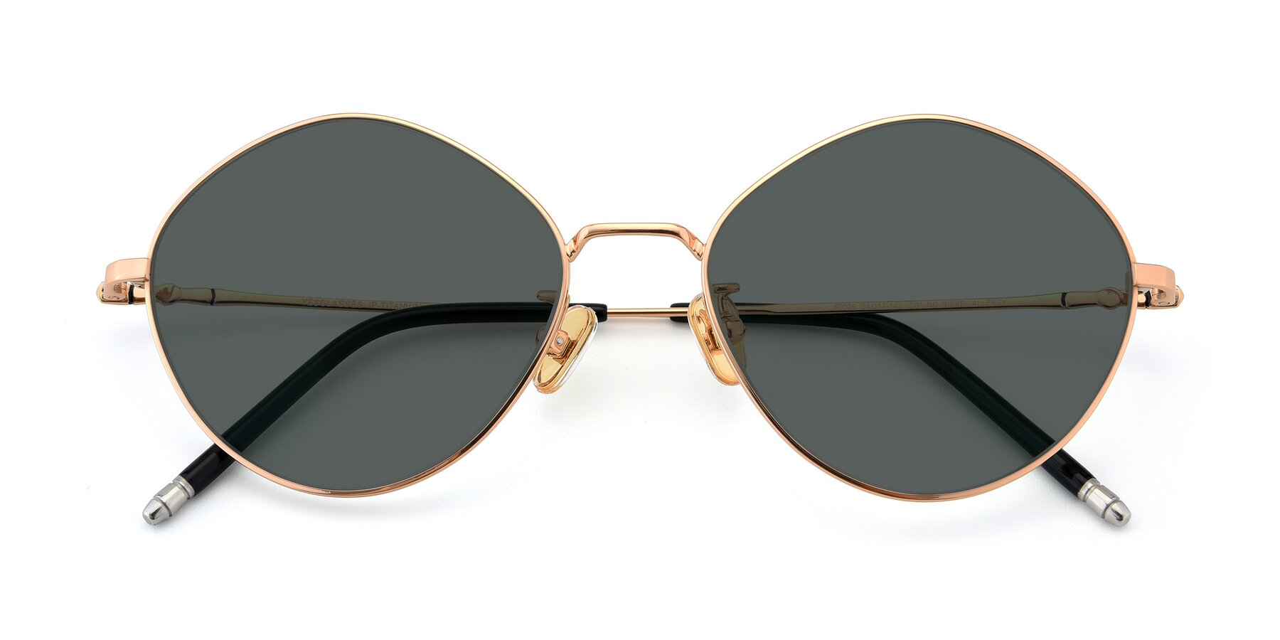 Folded Front of 90029 in Gold with Gray Polarized Lenses