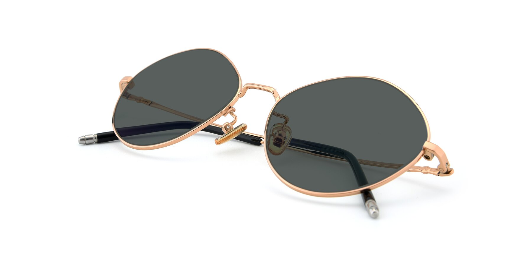 View of 90029 in Gold with Gray Polarized Lenses