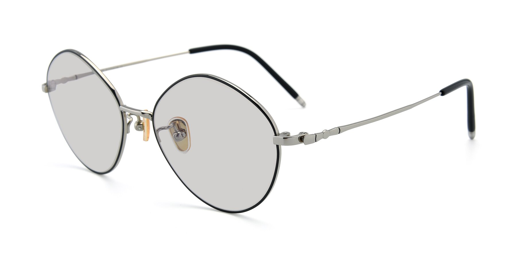 Angle of 90029 in Black-Silver with Light Gray Tinted Lenses