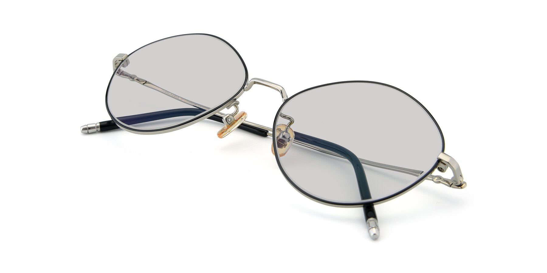 View of 90029 in Black-Silver with Light Gray Tinted Lenses