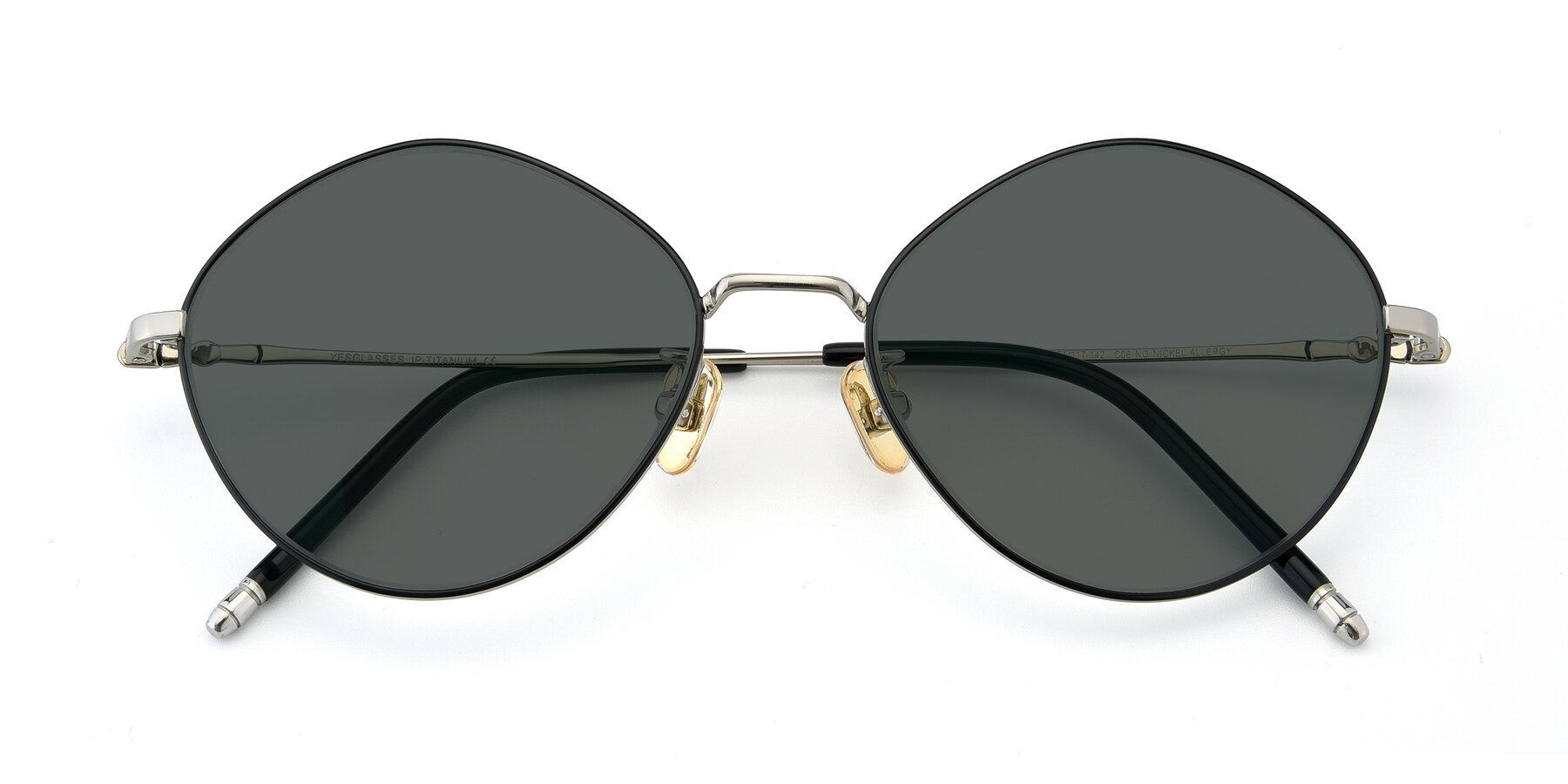 Folded Front of 90029 in Black-Silver with Gray Polarized Lenses