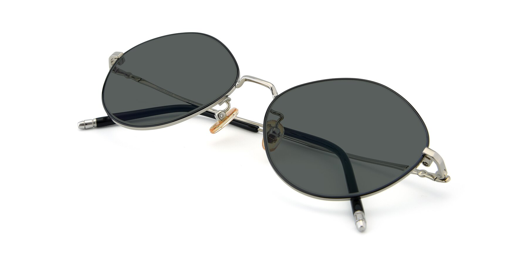 View of 90029 in Black-Silver with Gray Polarized Lenses