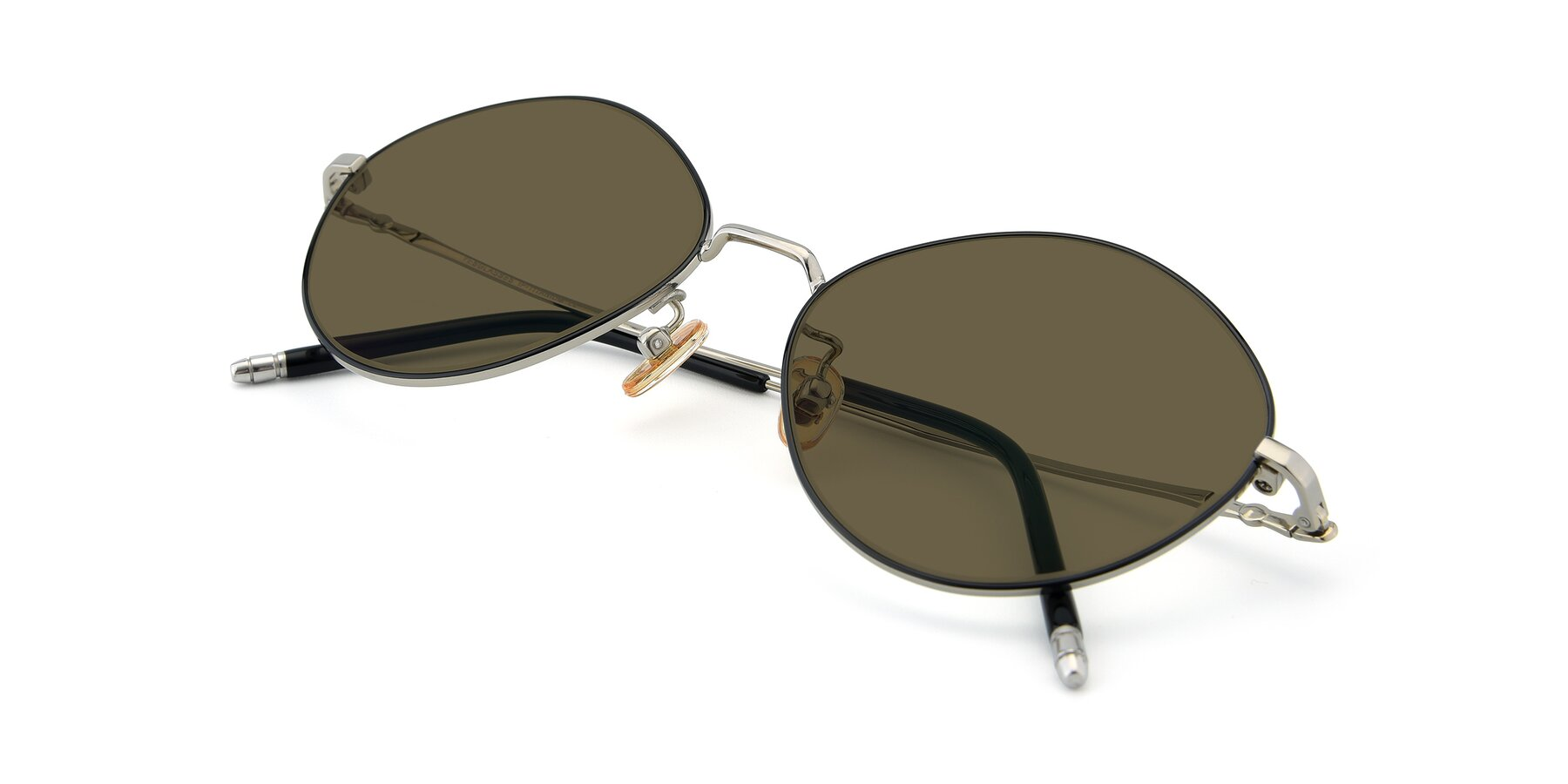 View of 90029 in Black-Silver with Brown Polarized Lenses