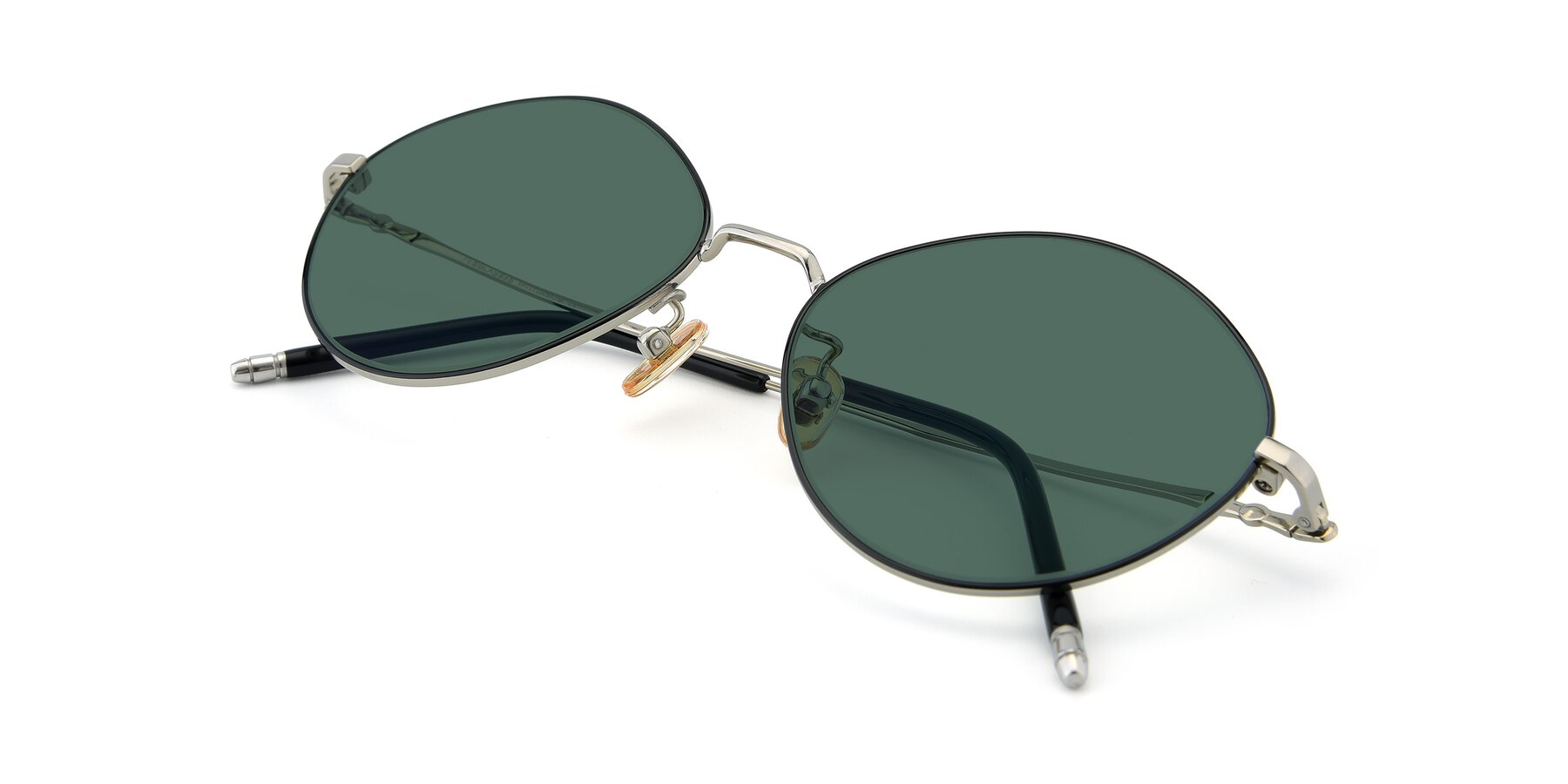 View of 90029 in Black-Silver with Green Polarized Lenses