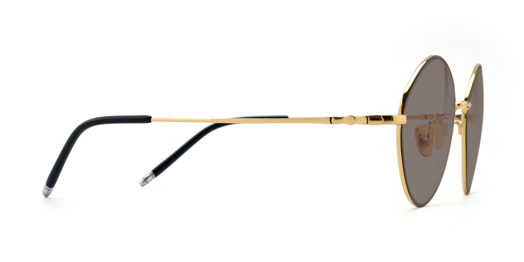 Side of 90029 in Black-Gold with Medium Brown Tinted Lenses