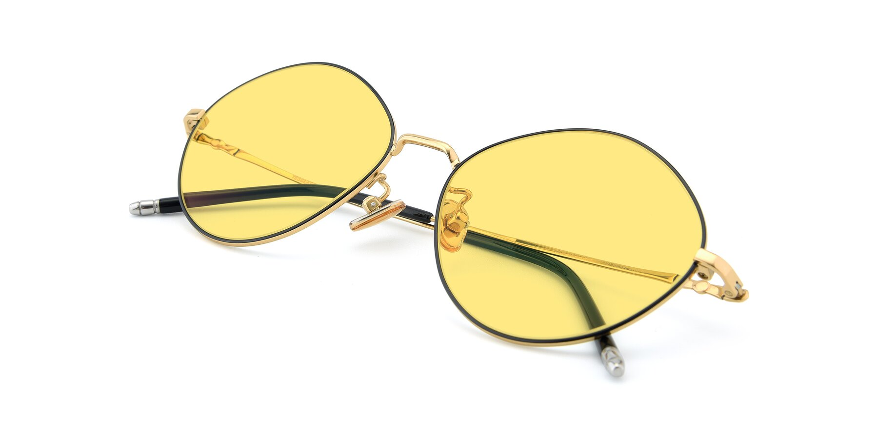 View of 90029 in Black-Gold with Medium Yellow Tinted Lenses