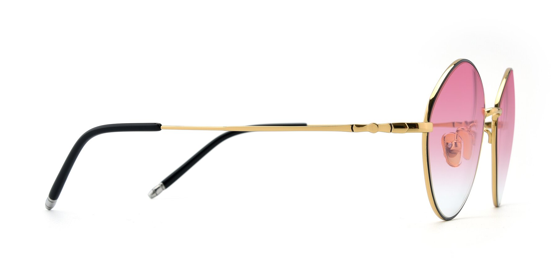 Side of 90029 in Black-Gold with Pink Gradient Lenses