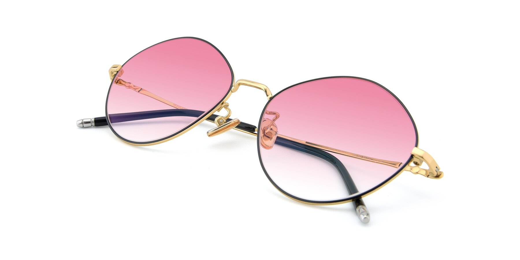 View of 90029 in Black-Gold with Pink Gradient Lenses