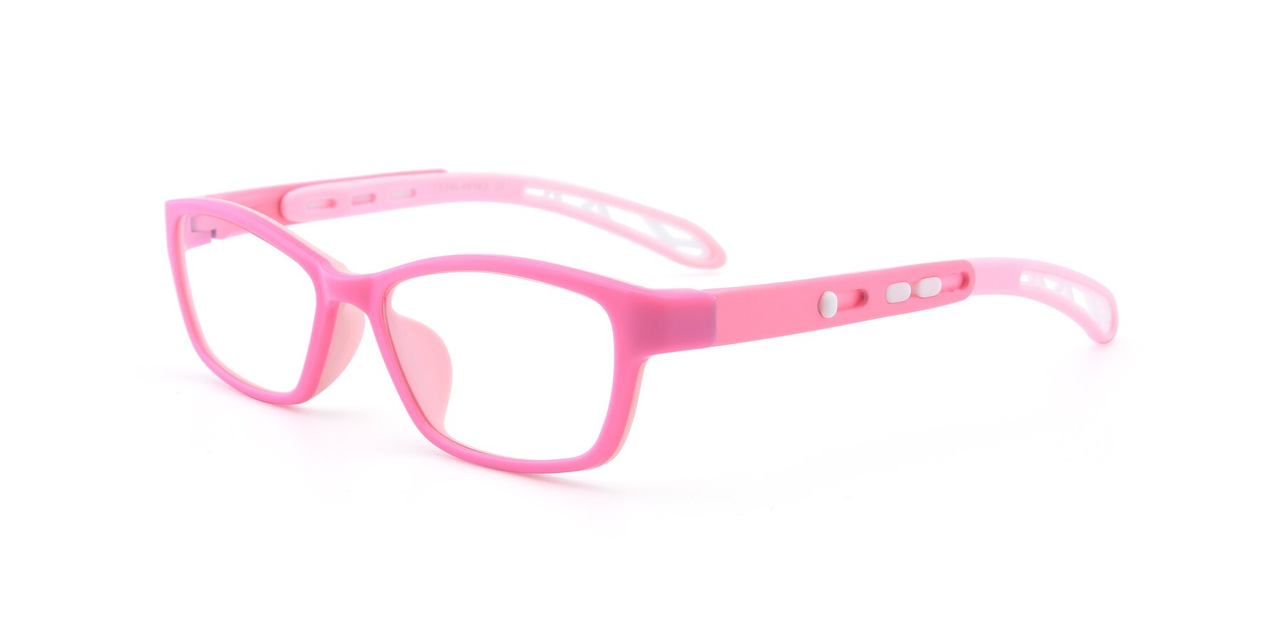 Angle of 1075 in Pink with Clear Eyeglass Lenses