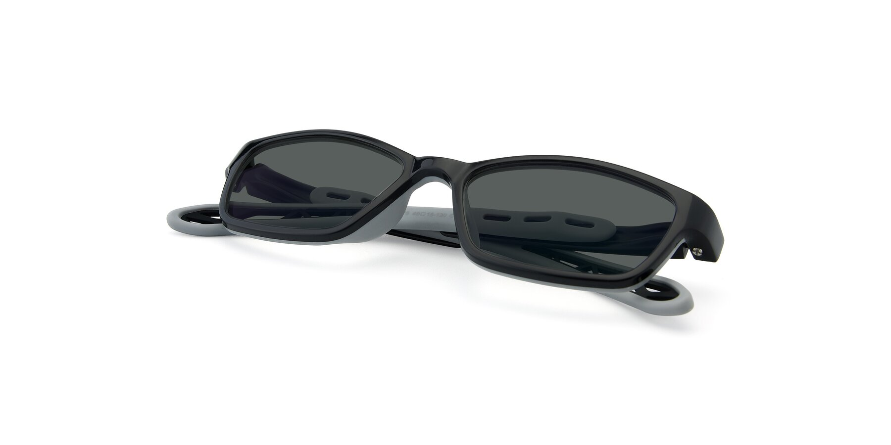 View of 1075 in Black-Gray with Gray Polarized Lenses