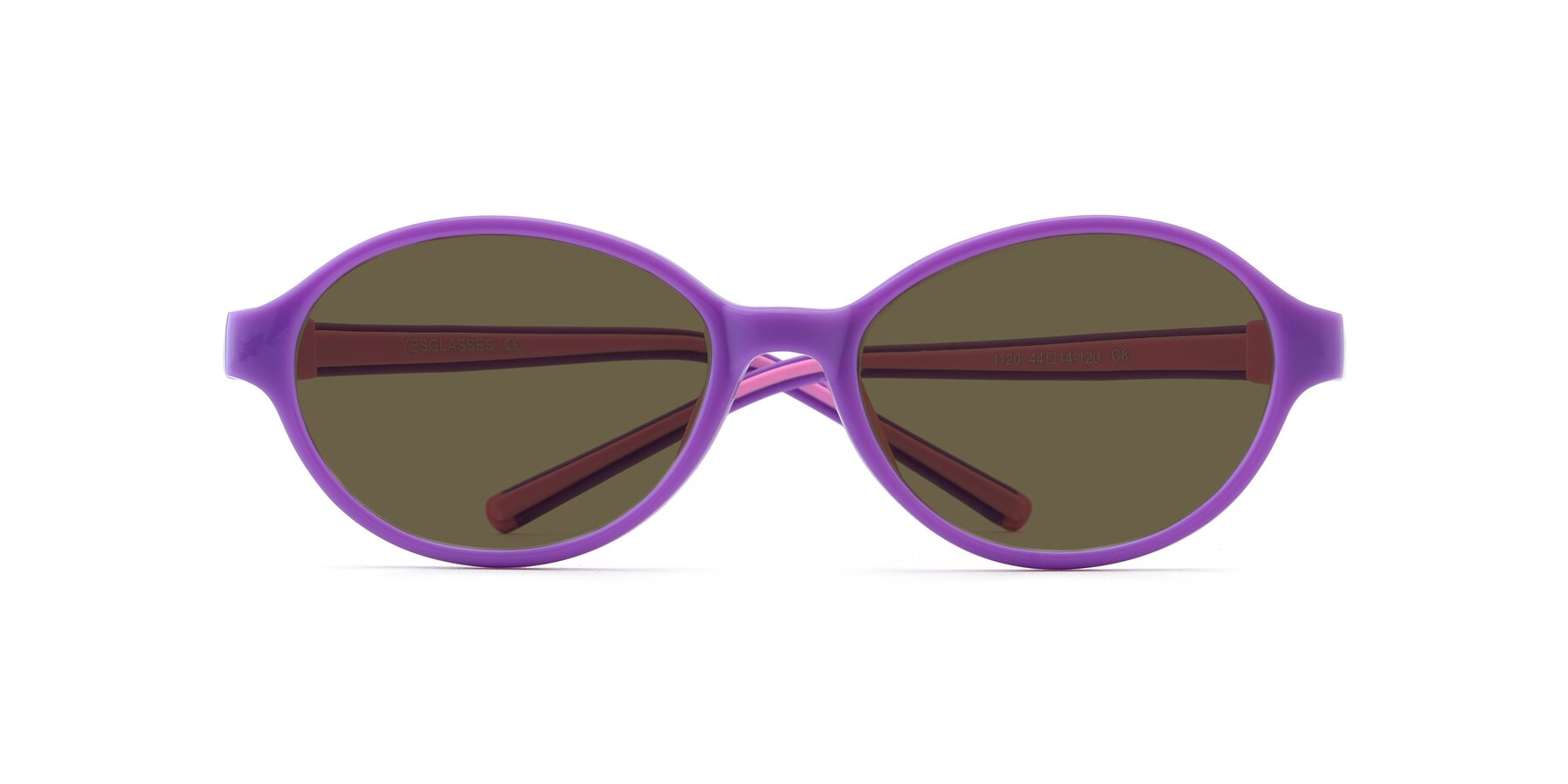 Folded Front of 1120 in Purple-Pink with Brown Polarized Lenses