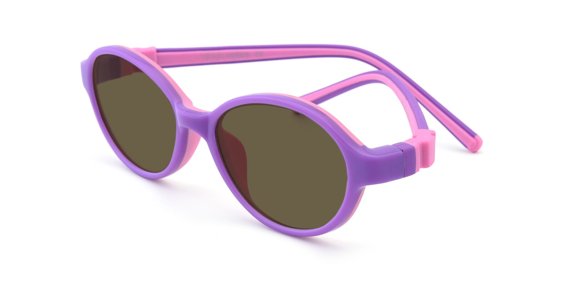 Angle of 1120 in Purple-Pink with Brown Polarized Lenses