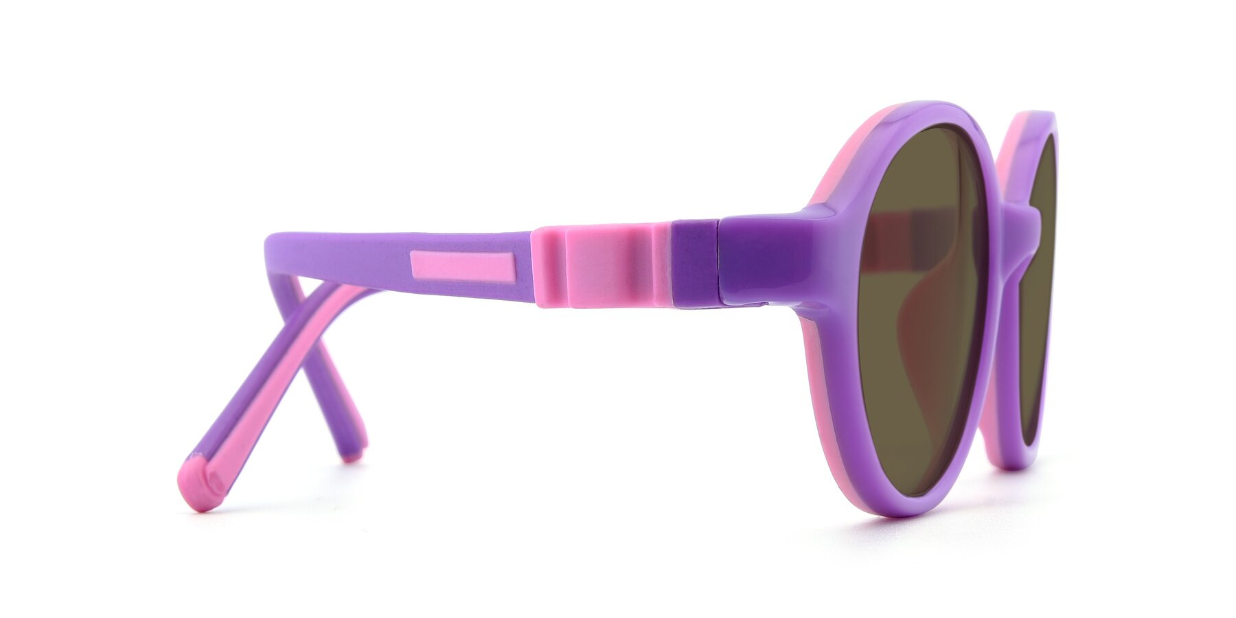 Side of 1120 in Purple-Pink with Brown Polarized Lenses
