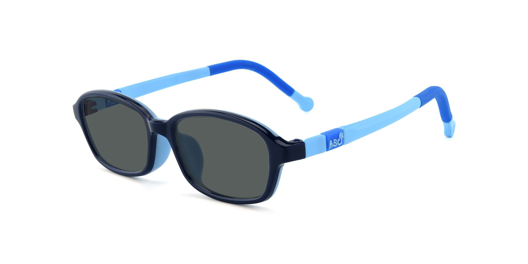 Angle of 533 in Black-Blue with Gray Polarized Lenses