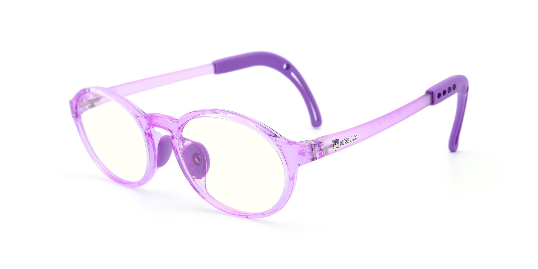Angle of 8373 in Tranparent Purple with Clear Blue Light Blocking Lenses