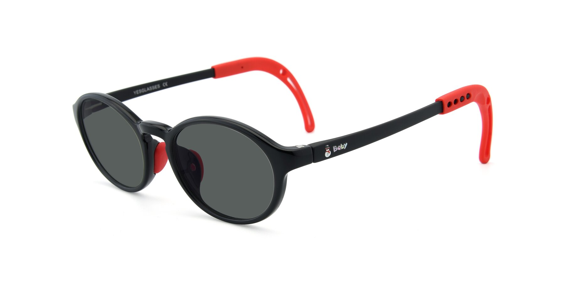 Angle of 8373 in Black-Red with Gray Polarized Lenses