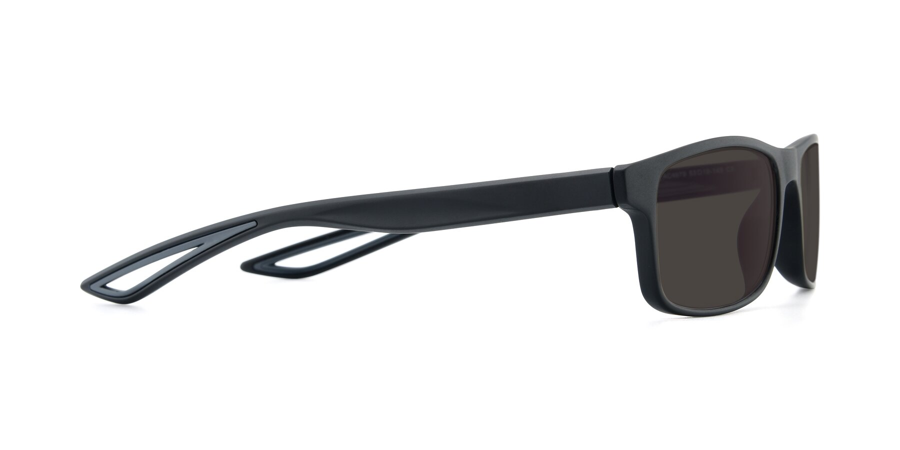 Side of AC4679 in Matte Black-Gray with Gray Tinted Lenses