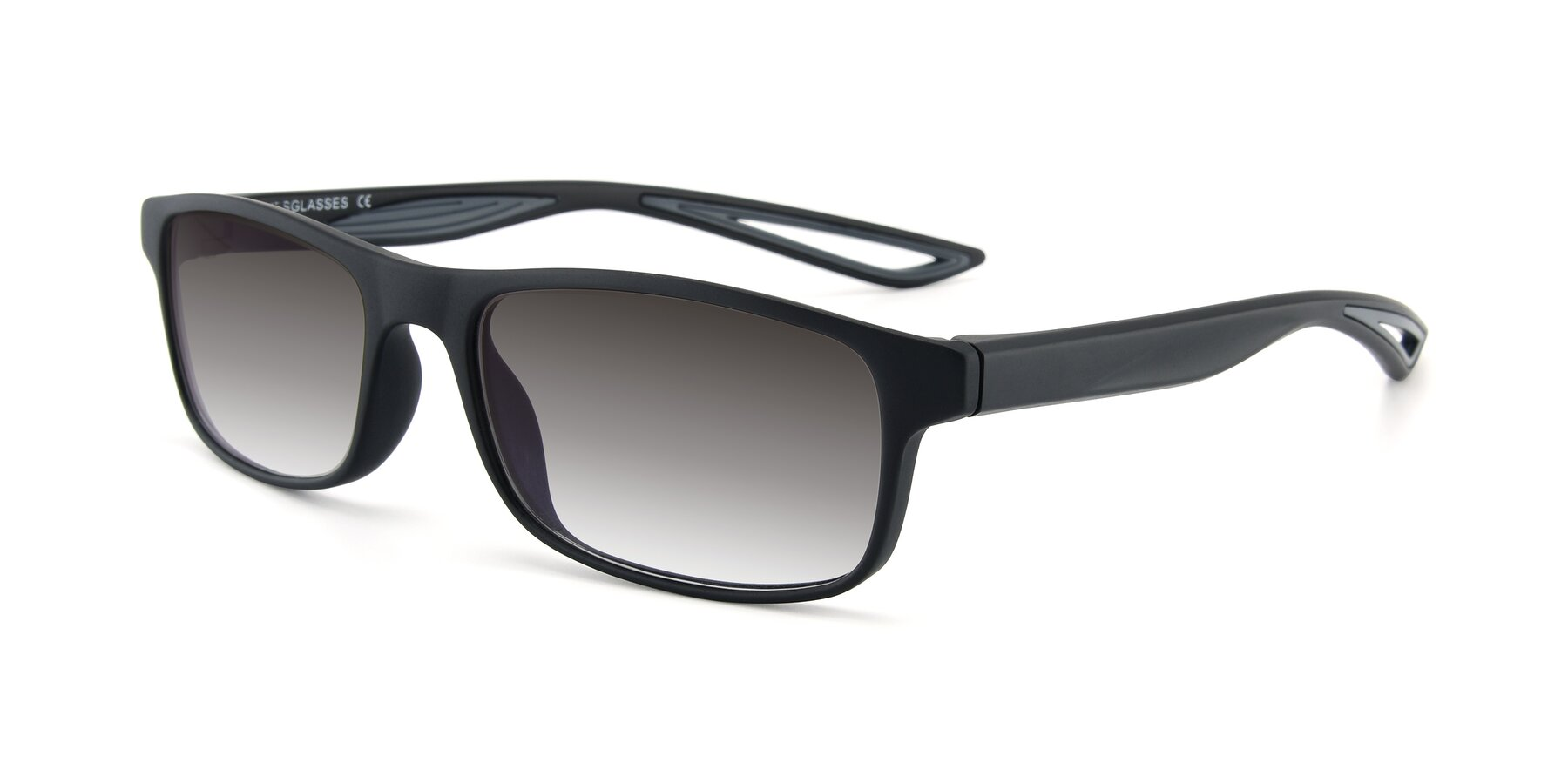 Angle of AC4679 in Matte Black-Gray with Gray Gradient Lenses