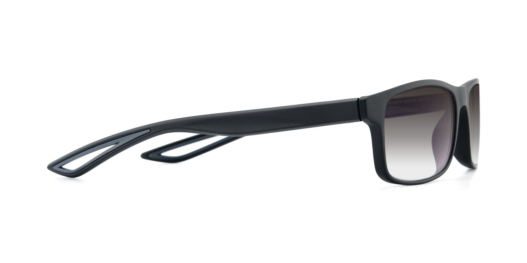 Side of AC4679 in Matte Black-Gray with Gray Gradient Lenses