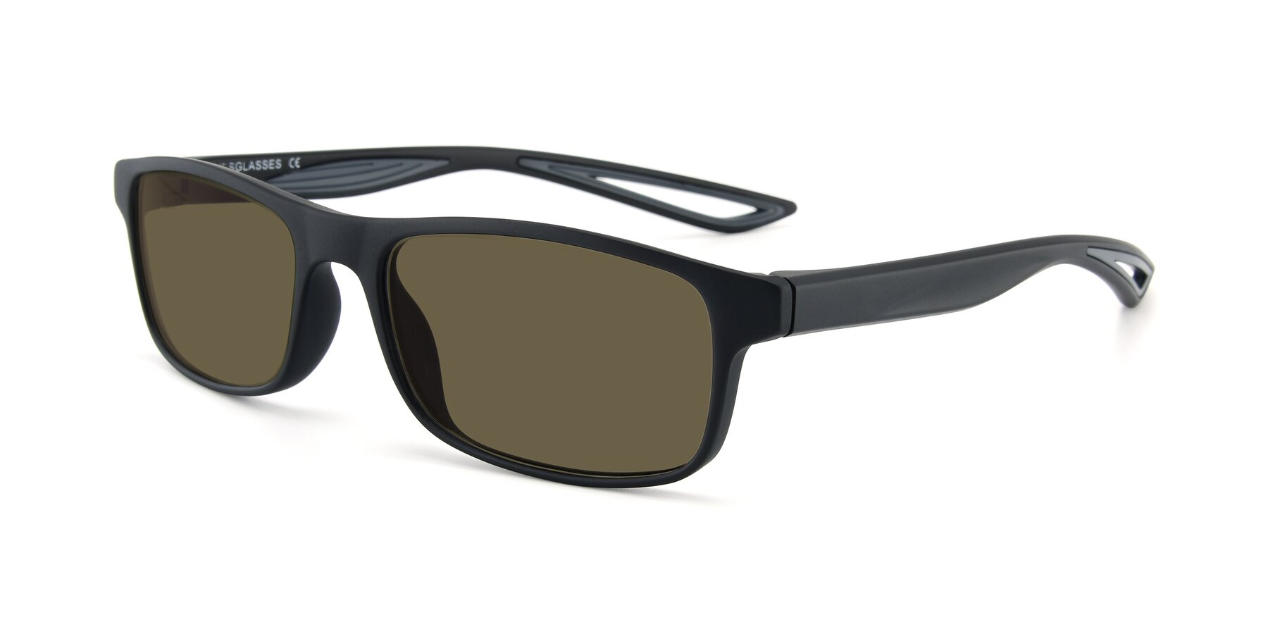 Angle of AC4679 in Matte Black-Gray with Brown Polarized Lenses