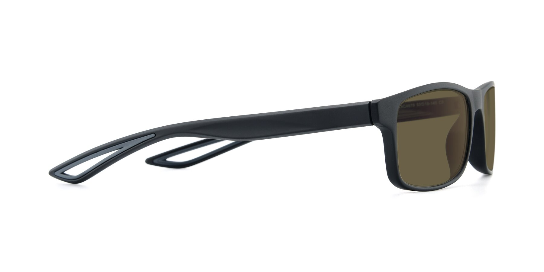 Side of AC4679 in Matte Black-Gray with Brown Polarized Lenses