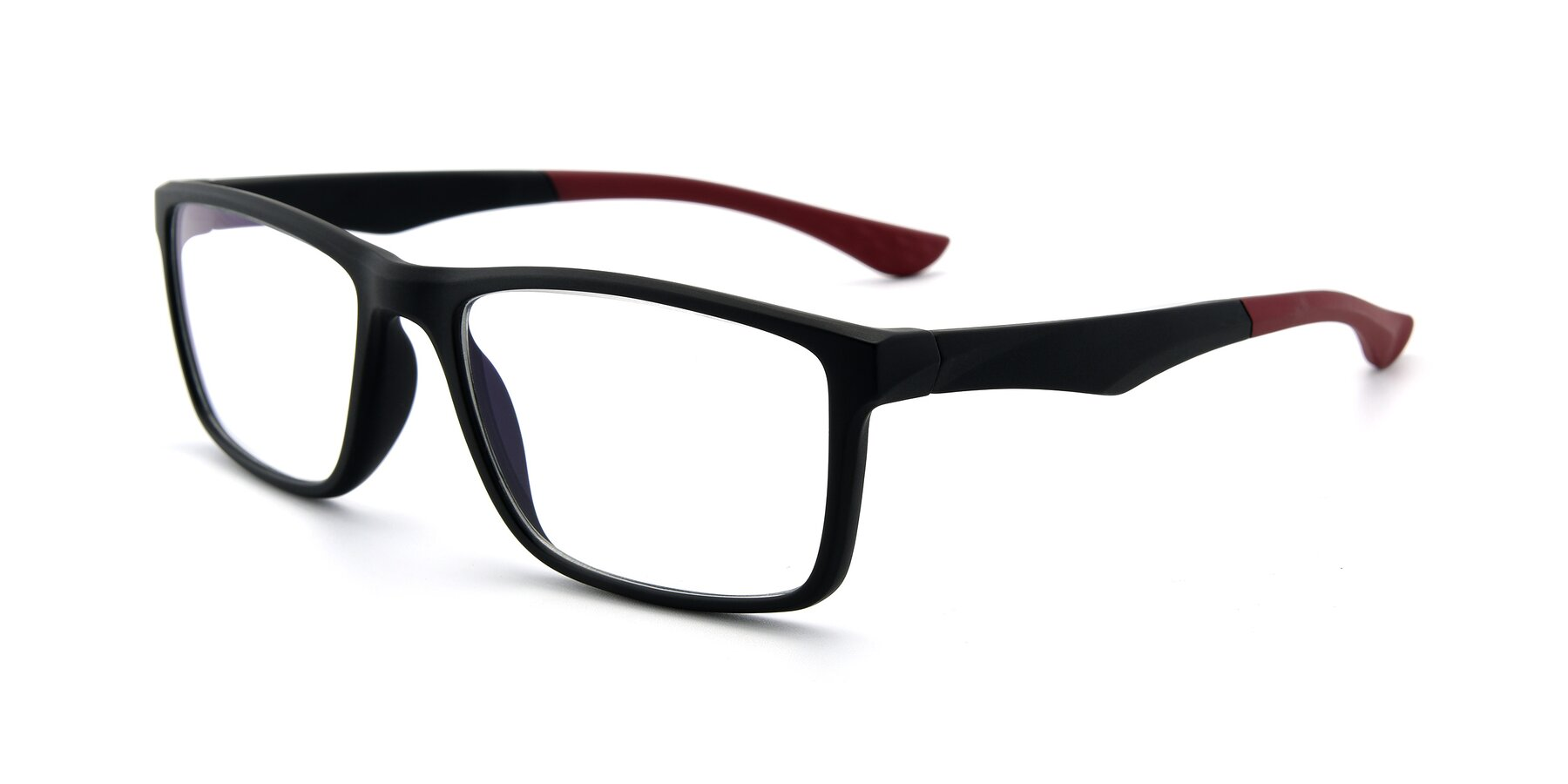 Angle of AC1303 in Matte Gray with Clear Eyeglass Lenses