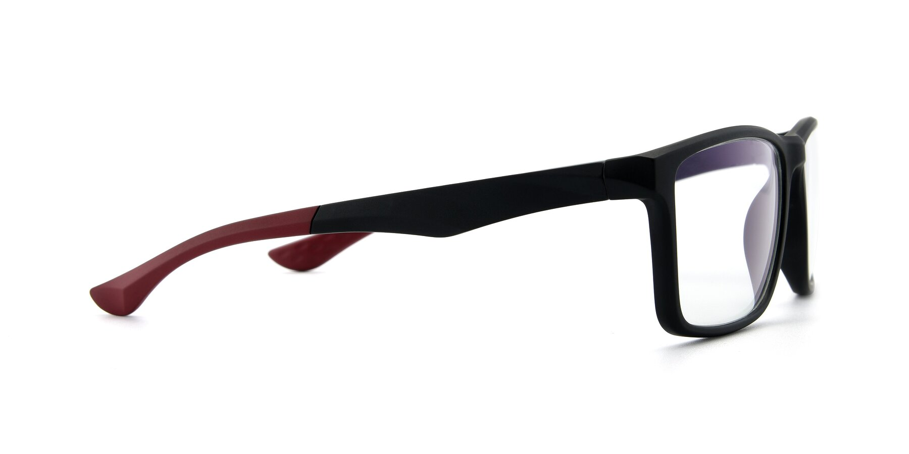 Side of AC1303 in Matte Gray with Clear Eyeglass Lenses
