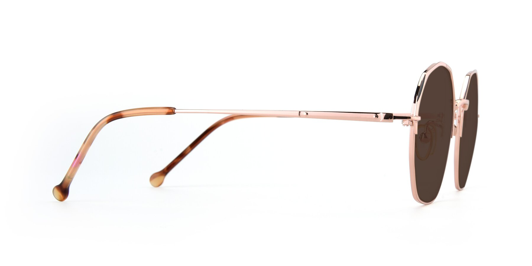 Side of 18020 in Rose Gold with Brown Tinted Lenses